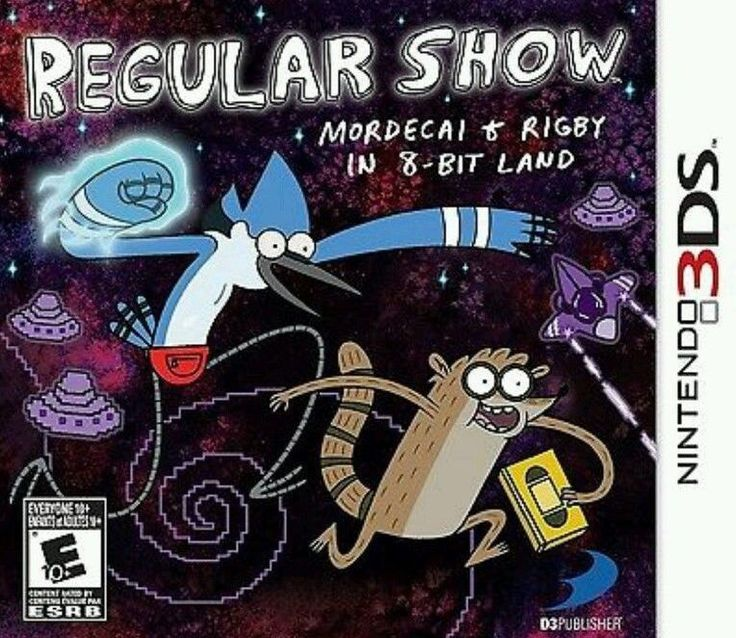 NINTENDO Game 3DS REGULAR SHOW: Mordecai and Rigby in 8-bit Land FACTORY SEALED! #cartoonnetwork #regularshow