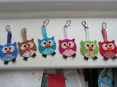 Handmade-Felt-Owl-Keyring-or-Bag-Charm-Ideal-stocking-filler