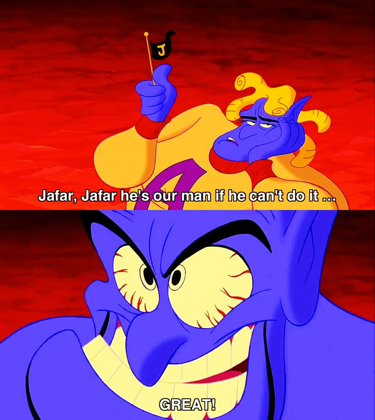 Robin Williams was definitely the right choice for Genie