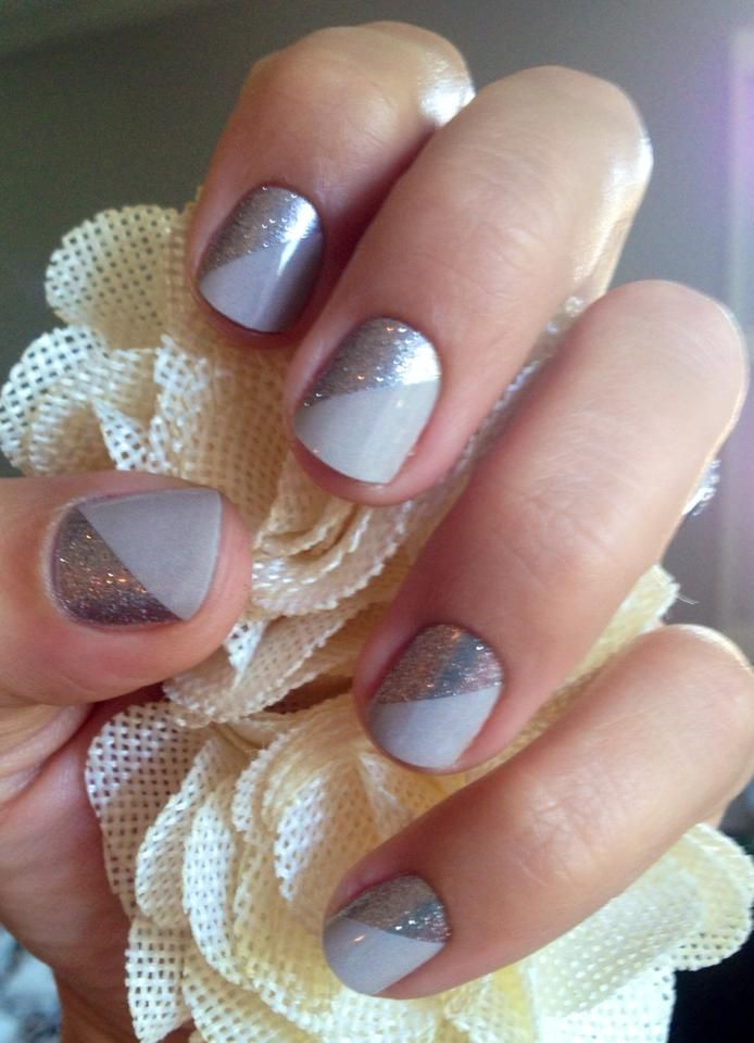 """Champagne Toast is the perfect combination of neutral and sparkle. Perfect for those who can't be too flashy for work! It's been one of my favorite """"jamicures"""" to date! http://helpinghands.jamberrynails.net/product/champagne-toast"""