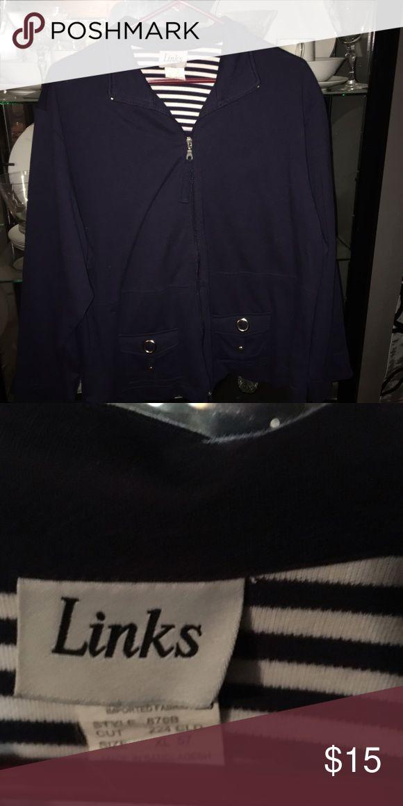 Women's zip up sweatshirt. Navy Women's zip up sweatshirt. Navy Jackets & Coats