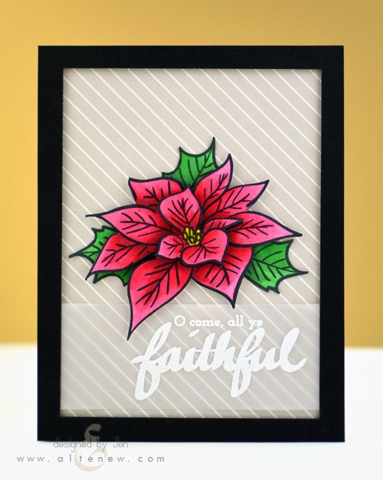 The poinsettia image from Poinsettia and Pine looks artistic and beautiful on its own, but even more striking with extra dimension!