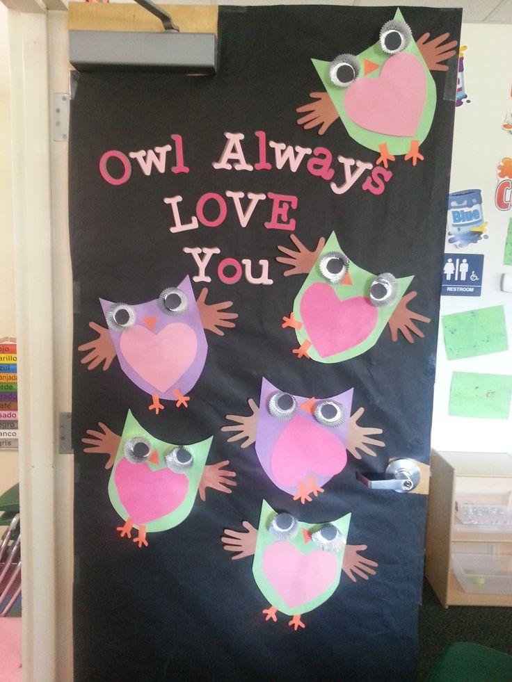 My classroom door for valentines day