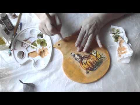 Нитяной кракелюр Daily Art. Как получить фарфоровые трещины. Полная версия - YouTube