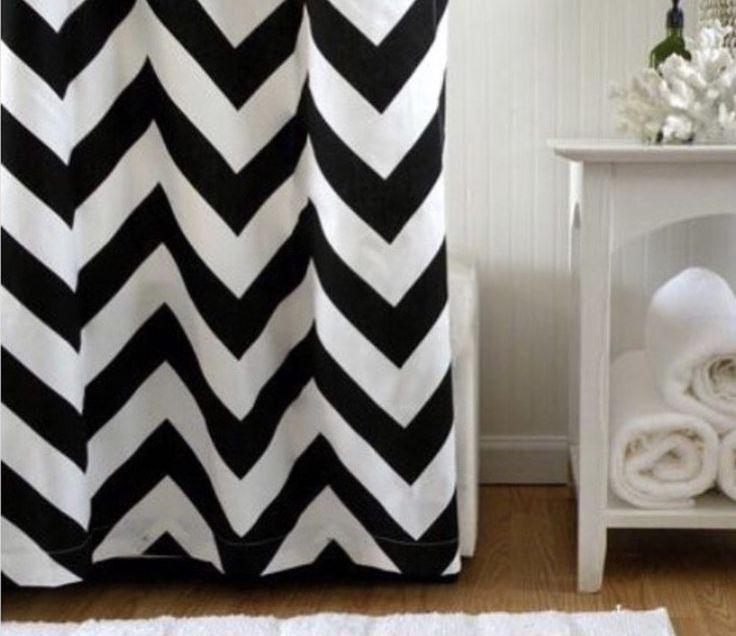 black white chevron shower curtain. Black and White Chevron Shower Curtain Best 25  shower curtains ideas on Pinterest Yellow