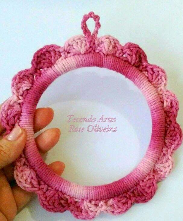 Tecendo Artes em Crochet: Moldurinha de Crochê com Passo a Passo!