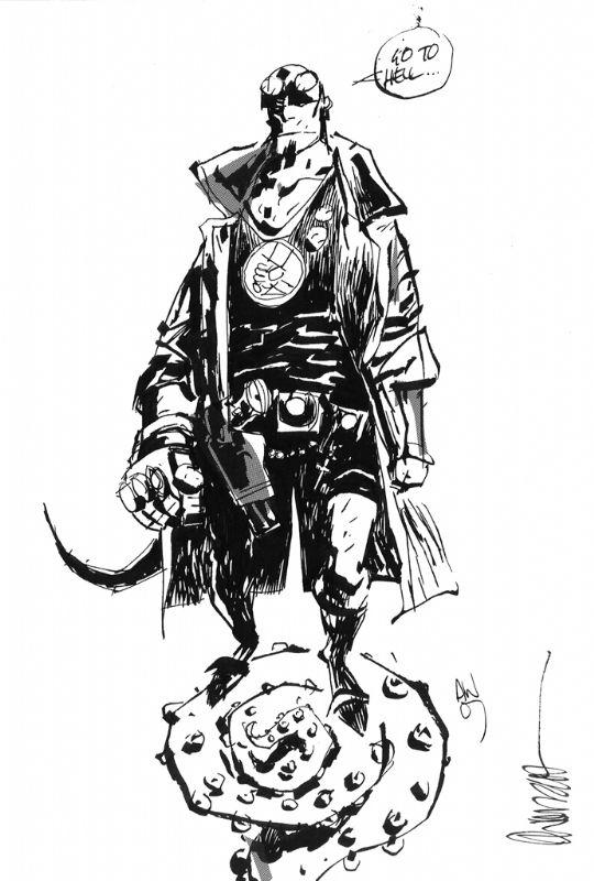 Hellboy by Ashley Wood