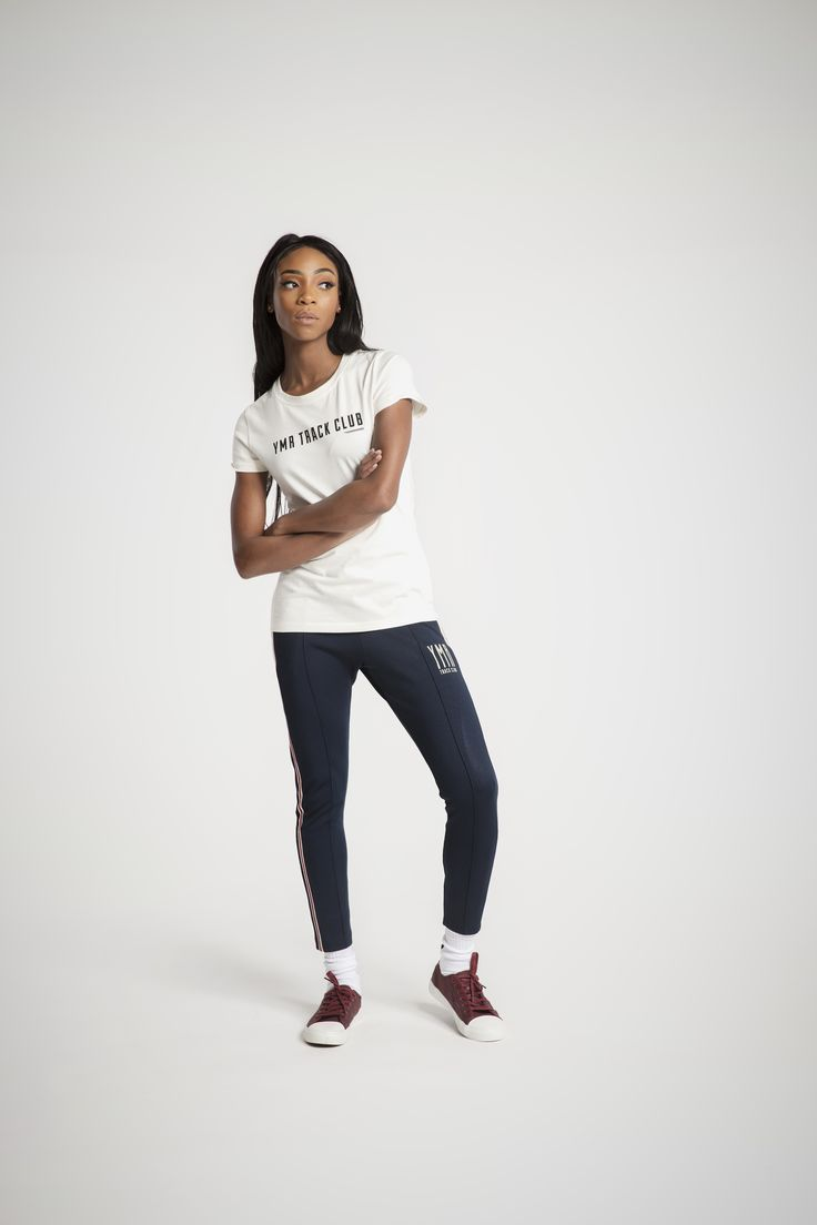 Yes She Can T-shirt in Off-white is an urban sportswear from YMR Track Club.