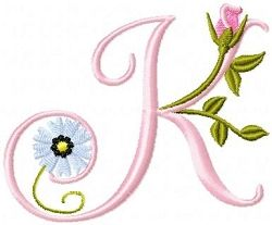Roses And Daisies Alphabet   FREE   Machine Embroidery Designs   SWAKembroidery.com