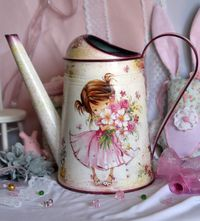 Watering can decoupage handmade by DecoDvorik on Etsy, €39.00