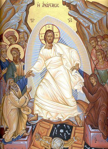 Χριστὸς ἀνέστη! Ἀληθῶς ἀνέστη!  Christus resurrexit! Resurrexit vere! Christ is risen! Truly He is risen!