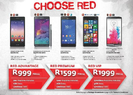 Did anyone tell you that you talk to much??? While tell them CHOOSE RED: with Vodacom4u