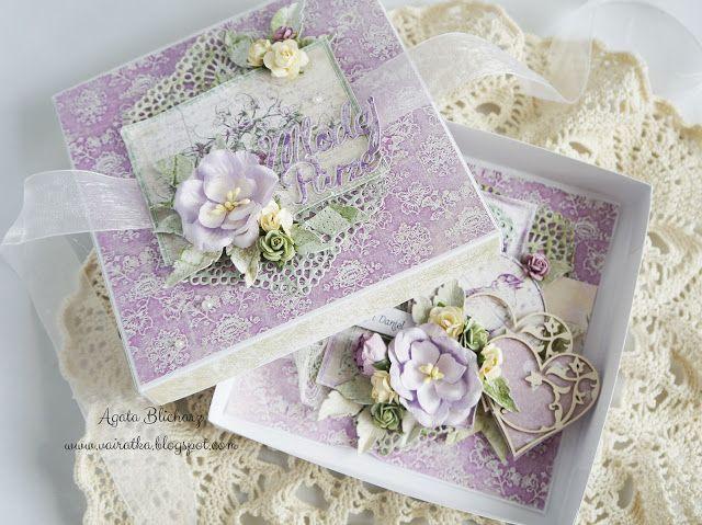 "Blog Craft Passion: Lawendowa kartka ślubna + filmik ""krok po kroku""/Lavender wedding card + ""step by step"" movie"