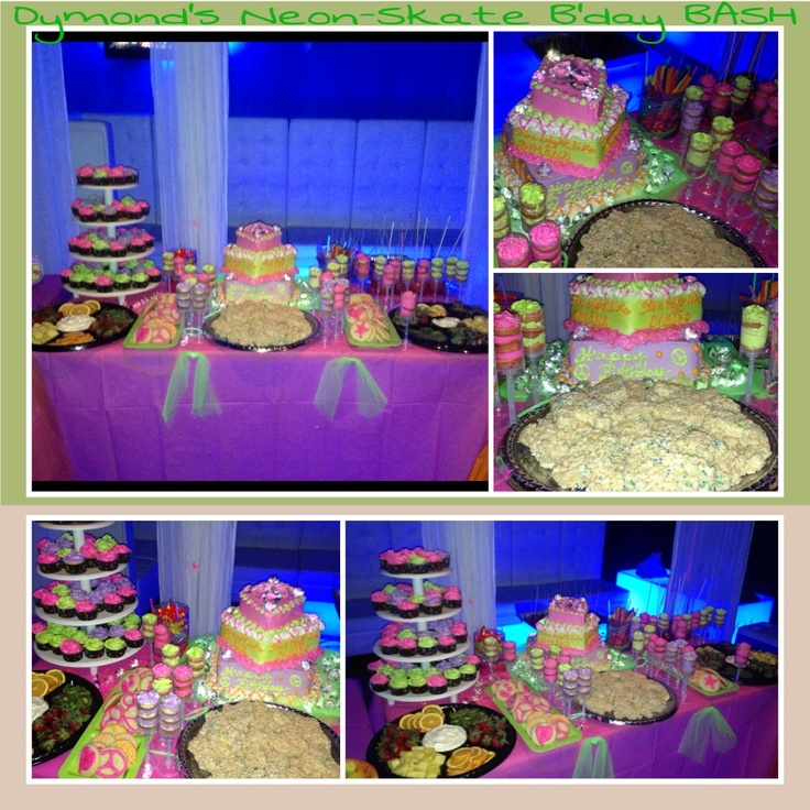 Neon, Party Desserts And Dessert Tables