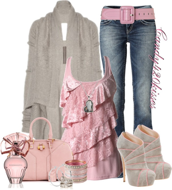 """""""pretty in pink"""" by candy420kisses on Polyvore"""