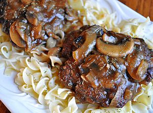 Hamburger Steaks with Mushroom-Onion Gravy {correct URL}