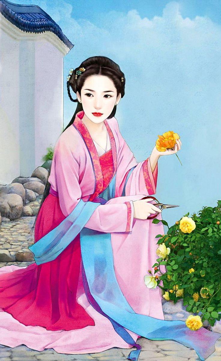 картинка китаянка рисунок оформлении заказа можно
