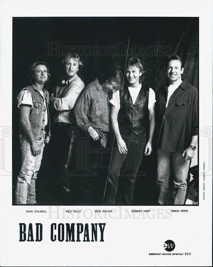 """Press Photo """"Bad Company"""" rock band Dave Colwell Rick Wills Mick Ralphs"""