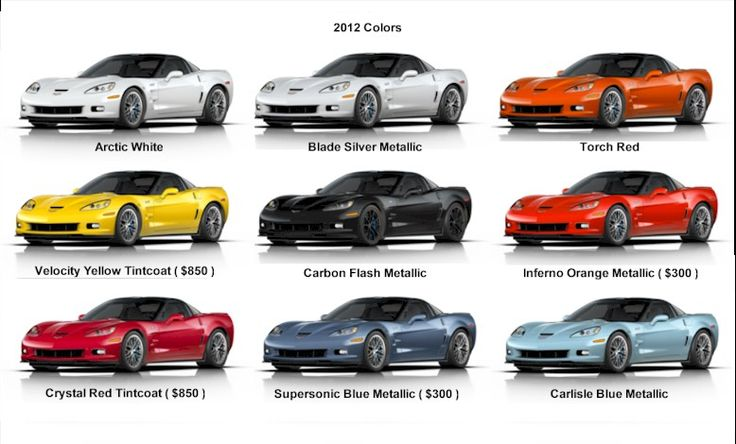 2012 c6 exterior color chart if you don 39 t love corvettes you must be blind pinterest