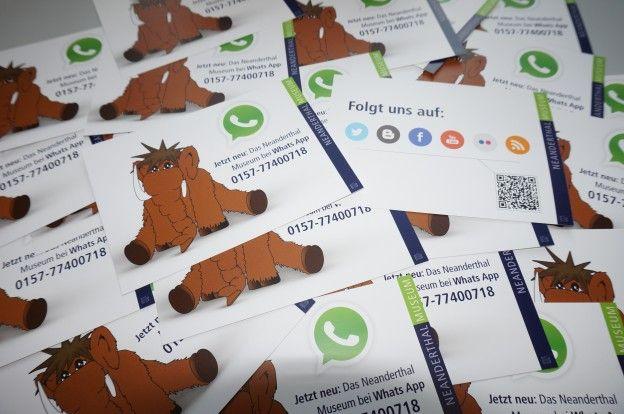 #WhatsApp Marketing. Neanderthal Museum Mettmann.