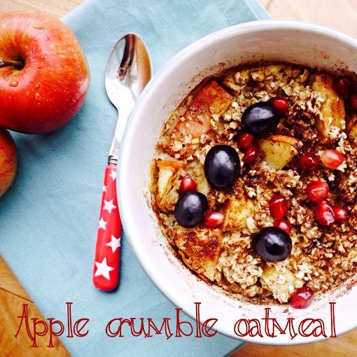 Apple Crumble Oatmeal by Rosanna Davison