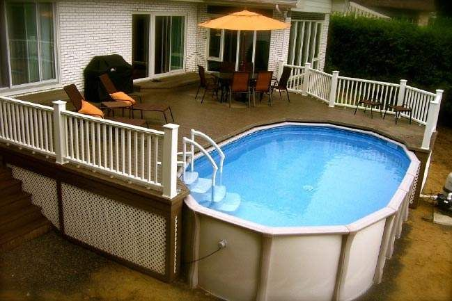pool with deck google search if we ever move to the maryland st house garden pinterest. Black Bedroom Furniture Sets. Home Design Ideas