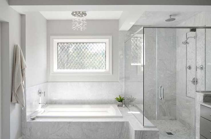 Leaded Glass Window Over Tub - Design, decor, photos, pictures ...