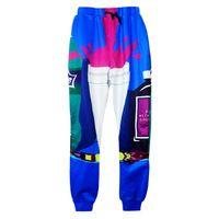 2015 nouvelle mode sprite joggeurs pantalons 3D print sport courir pantalons de survêtement pour les hommes / femmes cadrage en pied boisson jogging pantalons