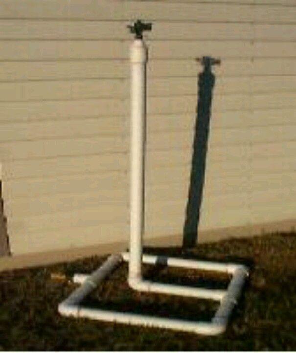 DIY pvc pipe sprinkler