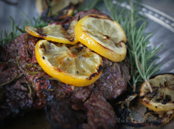 Grilled Butterflied Leg of Lamb with Lemons and Rosemary