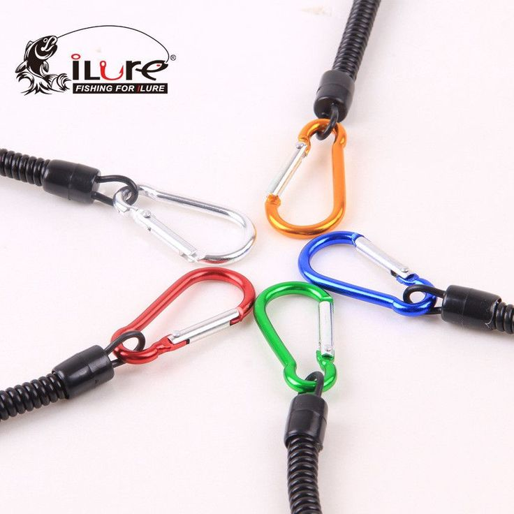 5 Pcs/lot of Fishing Ropes18cm Safety Rope Fish Grip/ Fishing Pliers Protective Elastic Fishing Missed Plastic Rope