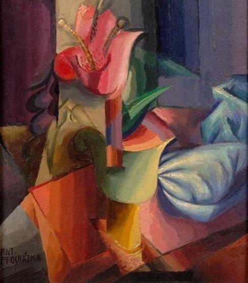 Antonín Procházka - Move and light #painting #art #Czechia #cuboexpressionism #CzechArt