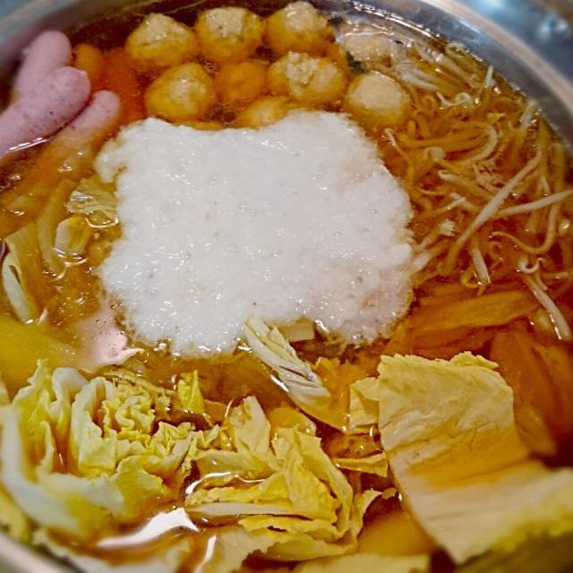わくわく - 5件のもぐもぐ - とろろ鍋♥出汁から #鍋 #出汁から #簡単料理 by kikilalalan
