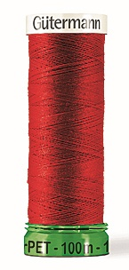 Gutermann's rPET Thread - 100 % recycled polyester from PET bottles - For all fabrics and seams - For sewing machines and sewing by hand - Recommended needle and needle size: Universal needle 80 - 90 (medium weight fabrics) #PET-Flaschen #Fashion #Pashion #Urban #Mode