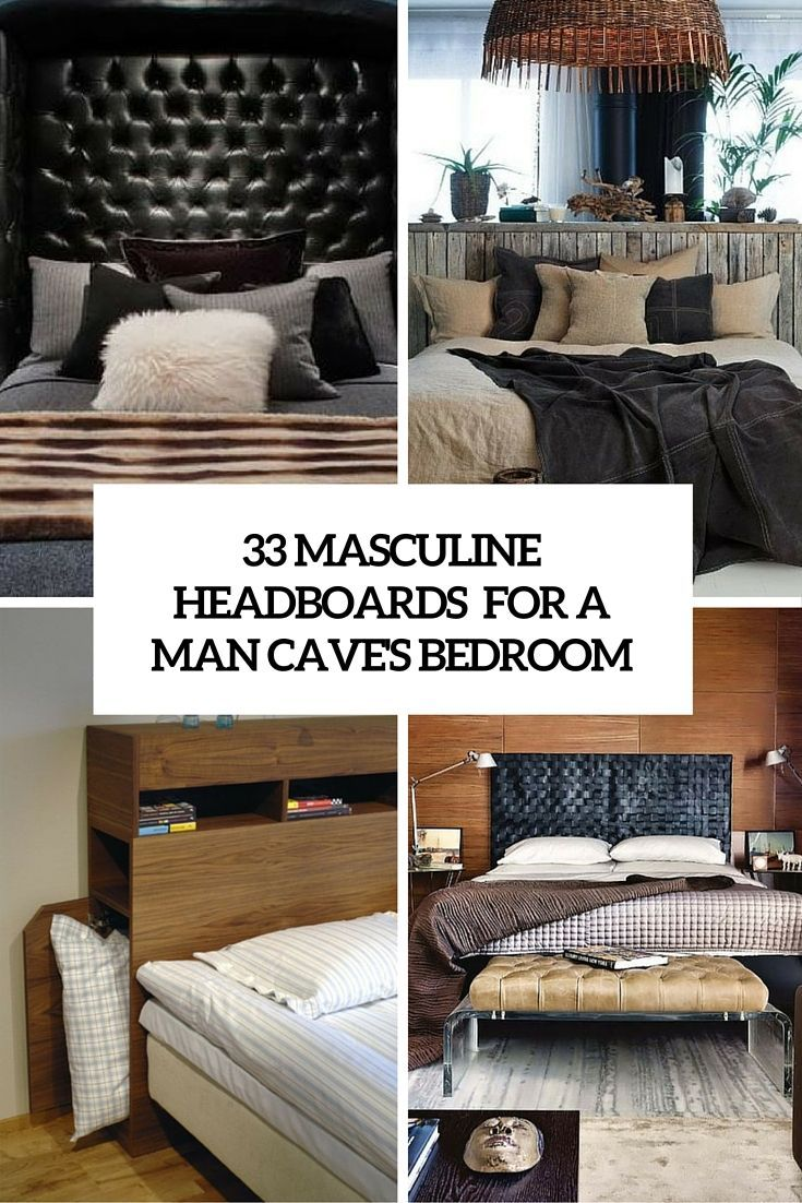 33 Stylish Masculine Headboards For Your Man S Cave Bedroom Manly
