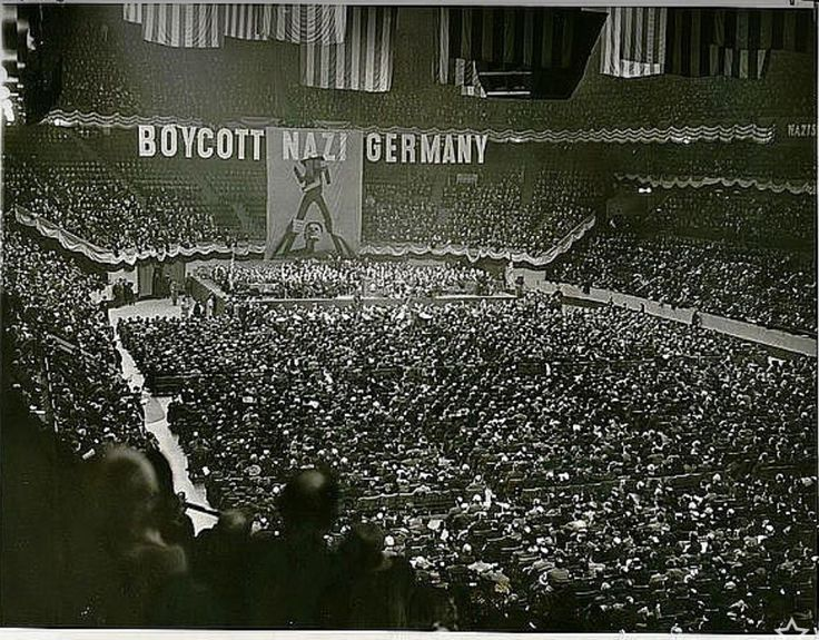 Boycott nazi germany rally responding to the persecution - How old is madison square garden ...