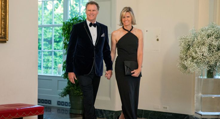 Entertainer Will Ferrell and his wife, Viveca Paulin, arrive for a state dinner for Nordic leaders at the White House in Washington, Friday, May 13, 2016.   (AP)