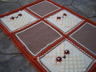 Blanket with Bobble Owl by Thomasina Cummings Designs