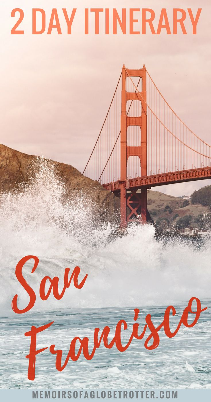 #SanFrancisco, #California is the perfect place to spend a weekend. Discover the top tourist attractions, places to eat, and the best places to view the #GoldenGateBridge in this 2 day itinerary. #UnitedStates