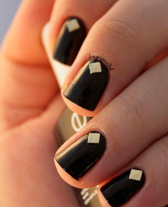 Stylish Studded Manicure Ideas #Studdednails