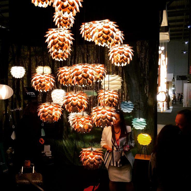 Incandescent pendant lighting from VITA. Almost unreal. #euroluce2015 #euroluce #milandesignweek #lighting #lightingshow #lightingdesign #salonedelmobile #mdw