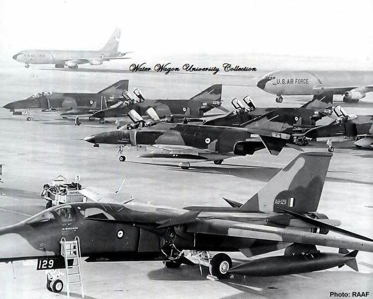 F-111C arrival in Australia and the return of the F-4E to the states after the lease end. 1973.
