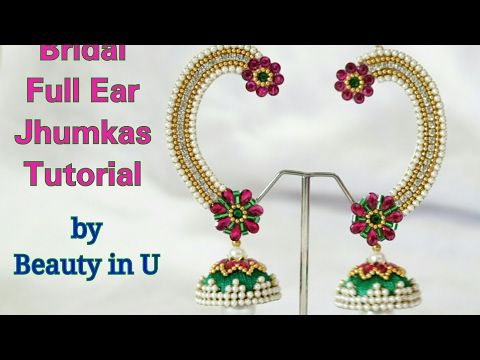 DIY Nayanthara Inspired Ear Cuffs Tutorial | How to make ear cuff at home - YouTube