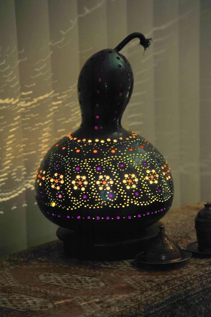 Sold out / 79 € Authentischen Kürbis Lampen Autentici Lampade Zucca Authentic Gourd Lamp
