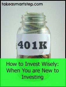How to Invest Money Wisely When You are New to Investing.  Click on picture to get tips to help you invest better from the start.