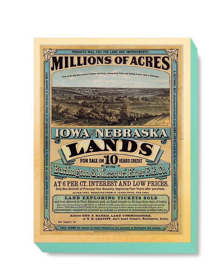 ADV 113 Advertising Art Millions of Acres