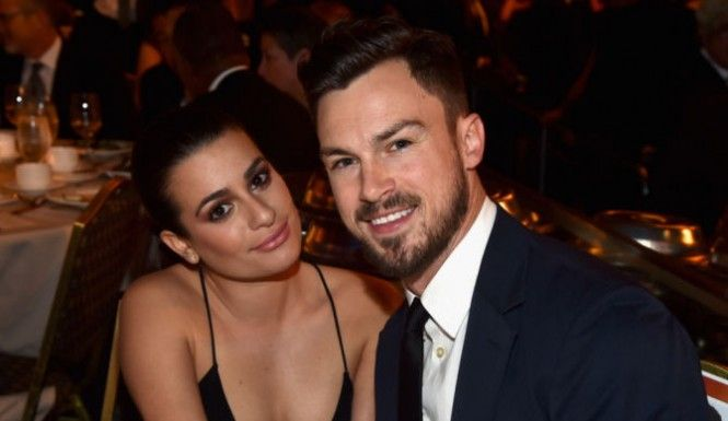 Actress Lea Michele (L) and Matthew Paetz attend the 67th Annual Directors Guild Of America Awards at the Hyatt Regency Century Plaza on February 7, 2015 in Century City, California.
