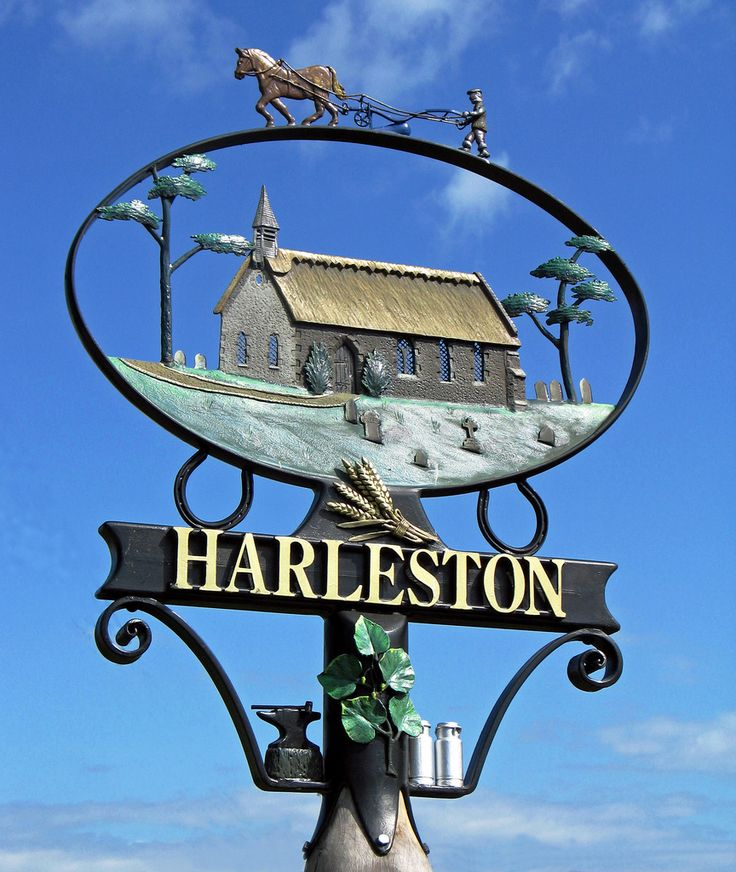 English village signs - Harleston, Norfolk