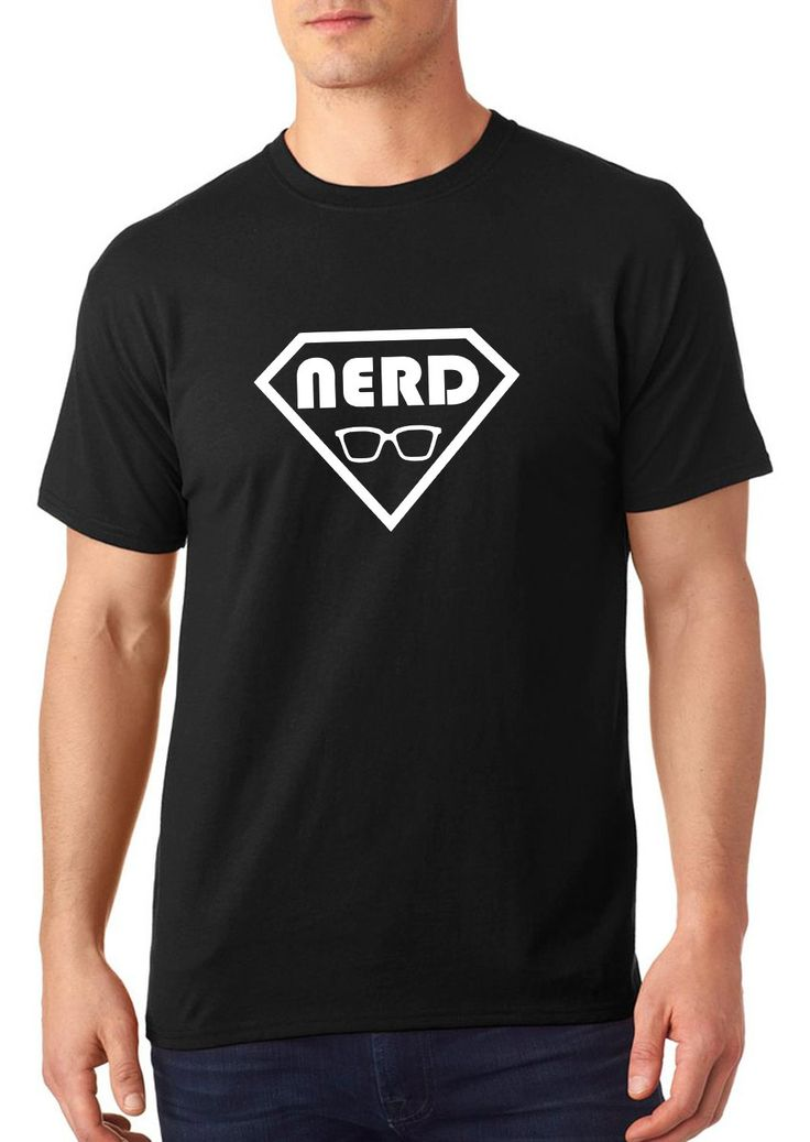 SuperNerd t shirt, nerdy t shirt, superman t shirt, funny t shirt, customized t shirt, cool t shirt, TEEddictive by TEEddictive on Etsy
