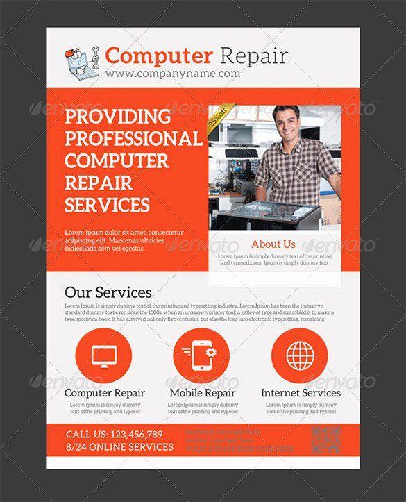 Computer Repair Flyer Template In 2020 Flyer Template Computer